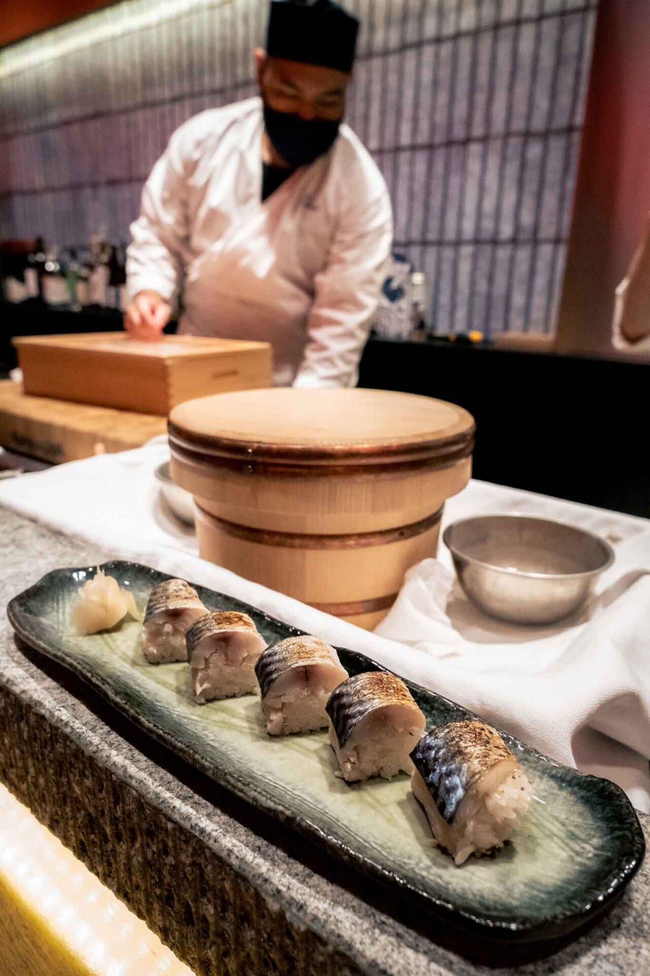 aburi sabazushi sgombro marinato ristorante giapponese Umi Salerno