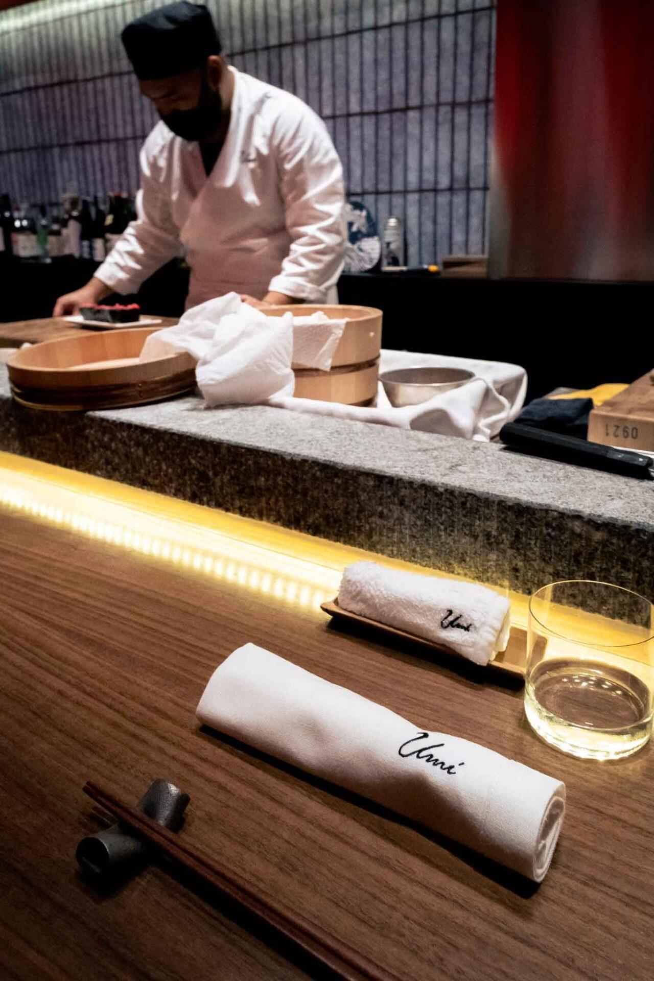 ristorante giapponese Umi Salerno bancone