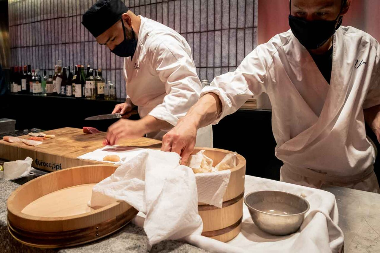 ristorante giapponese Umi Salerno gli chef