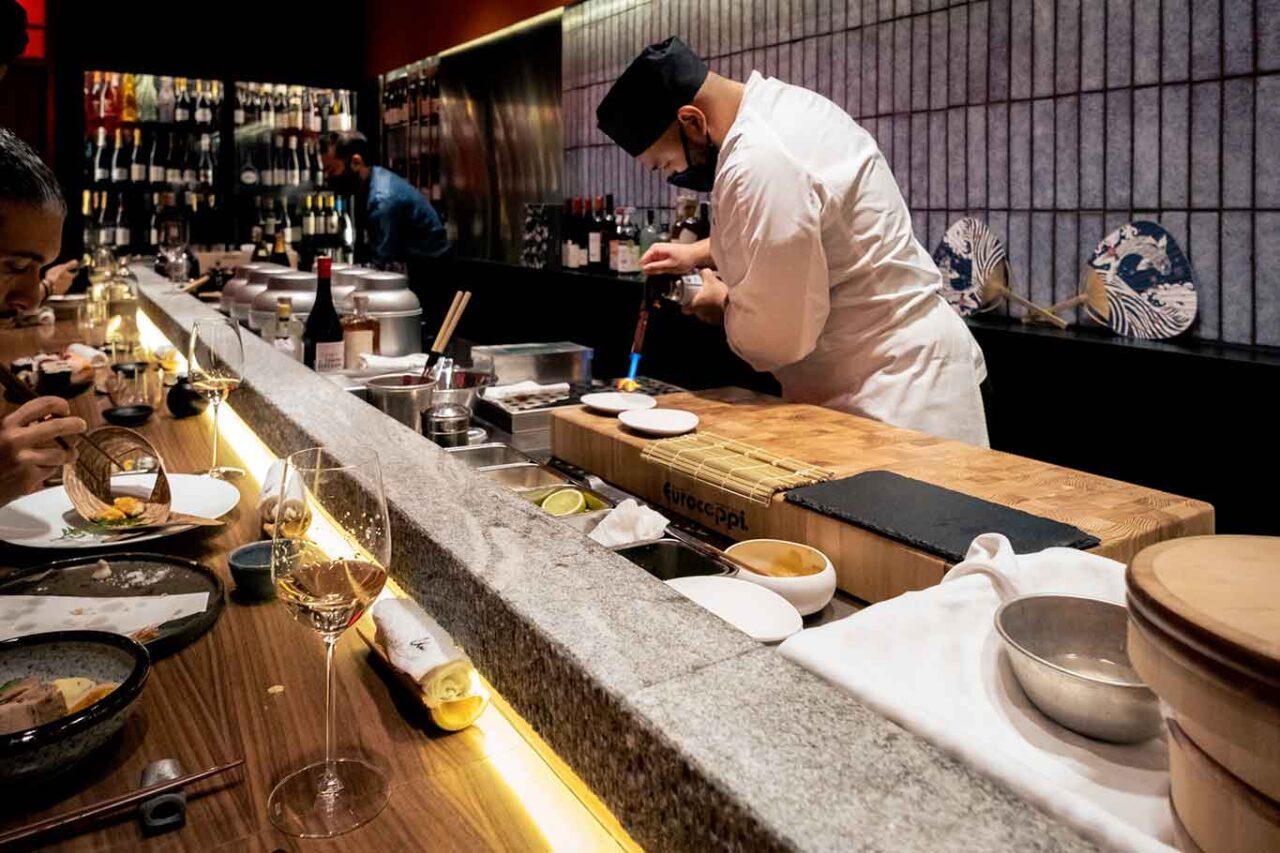 ristorante giapponese Umi Salerno preparazione